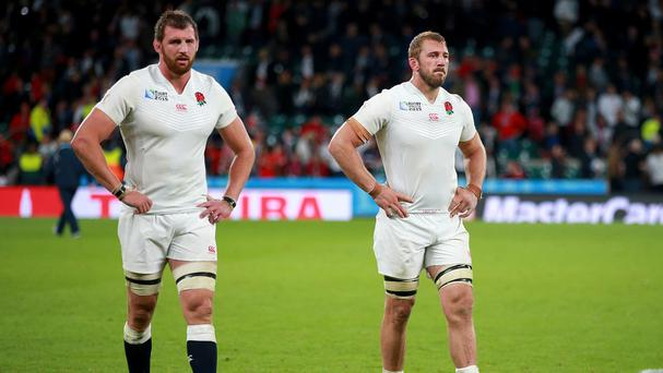 Tom Wood, left, has apologised after England were dumped out of the competition