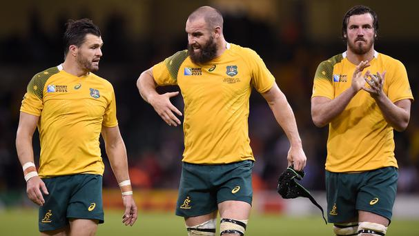 Adam Ashley-Cooper, left, is not getting carried away with Australia's chances