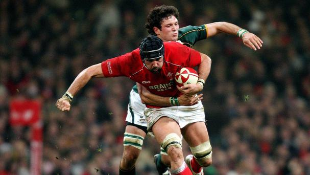 Jonathan Thomas, front, retired from rugby after being diagnosed with epilepsy