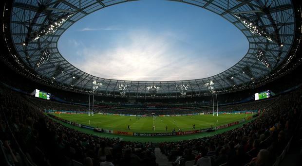 The Olympic Stadium in London, venue for Wednesday night's World Cup game between South Africa and the United States