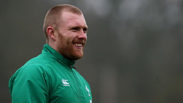 Keith Earls, pictured, will start Ireland's World Cup clash with France at outside centre