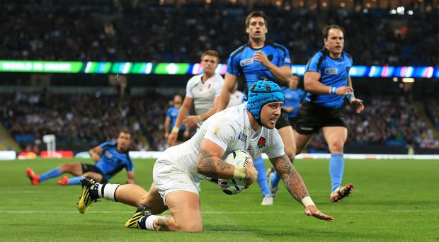 Jack Nowell scored a hat-trick of tries