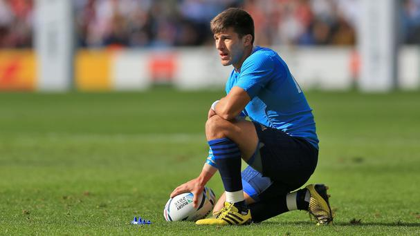 Italy's Tommaso Allan scored a try and kicked three conversions and two penalties against Romania