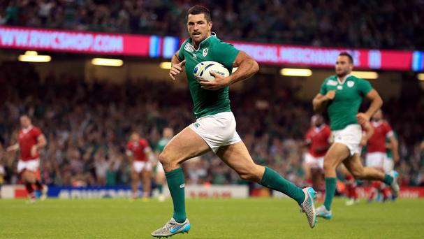 Rob Kearney, pictured, and Conor Murray scored a try apiece for Ireland