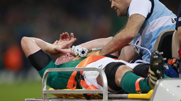 Paul O'Connell, left, should learn the extent of his hamstring injury on Monday