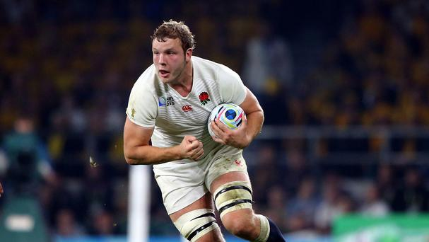 England's Joe Launchbury found it