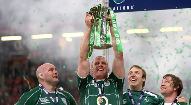 Ireland's 2009 Grand Slam celebrations marked a career highlight for Paul O'Connell, centre
