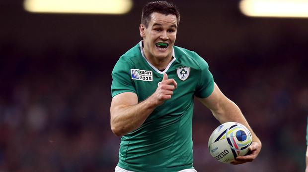 Ireland are ready to pitch Johnny Sexton, pictured, into the World Cup quarter-final against Argentina even if he is not fully fit