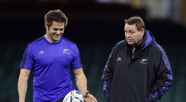Richie McCaw, left, has admitted France captain Thierry Dusautoir is capable of giving him a taste of his own medicine