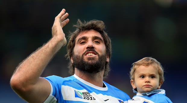 Argentina flanker Juan Martin Fernandez Lobbe, left, will quit Test rugby after the World Cup
