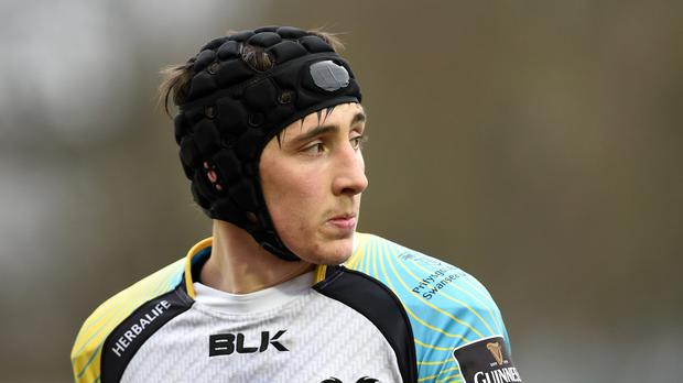 Sam Davies scored one of Ospreys' three tries