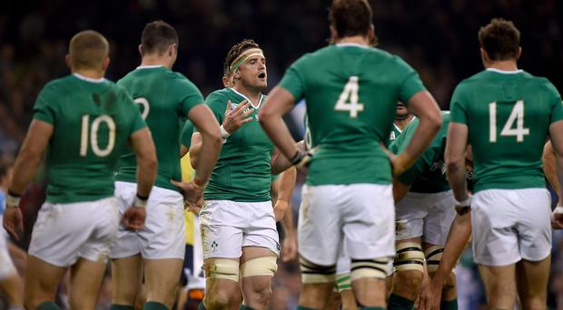 Jamie Heaslip, centre, had to rally Ireland from an early deficit and they came up short