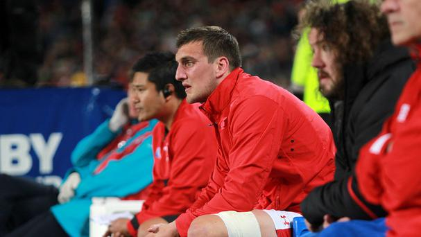 A dejected Wales captain Sam Warburton after being sent off during the 2011 World Cup semi-final against France in Auckland