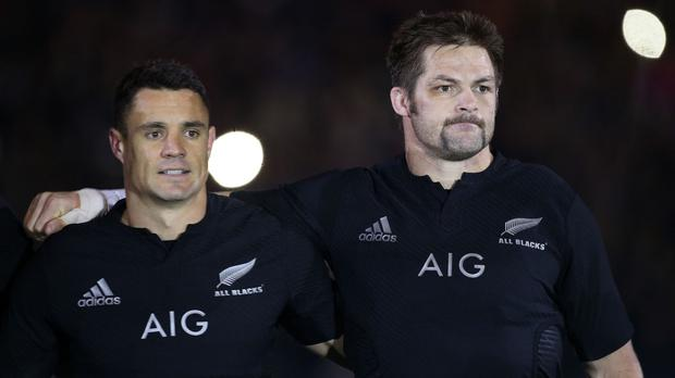 Dan Carter, left, has hailed the impact of New Zealand captain Richie McCaw on world rugby