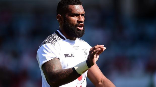 Bath's Nikola Matawalu, pictured playing for Fiji, was sin-binned and conceded a penalty try against Wasps