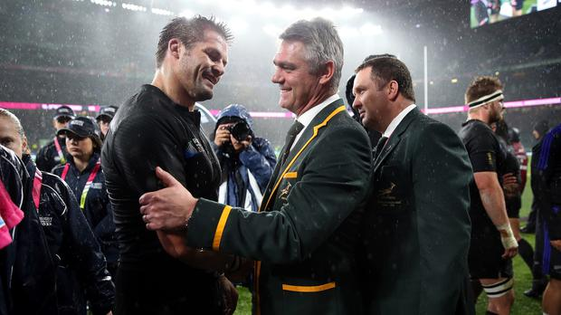 Richie McCaw, left, has been hailed as