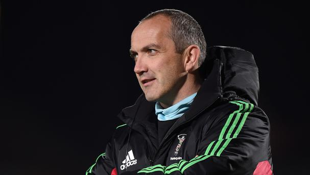 Conor O'Shea felt Harlequins were denied a clear penalty try towards the end of their game at Leicester
