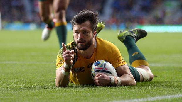 Adam Ashley-Cooper was the hat-trick hero in Australia's win
