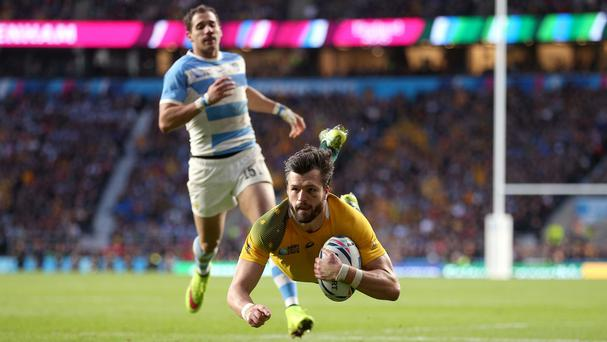 Adam Ashley-Cooper was Australia's hat-trick hero at Twickenham