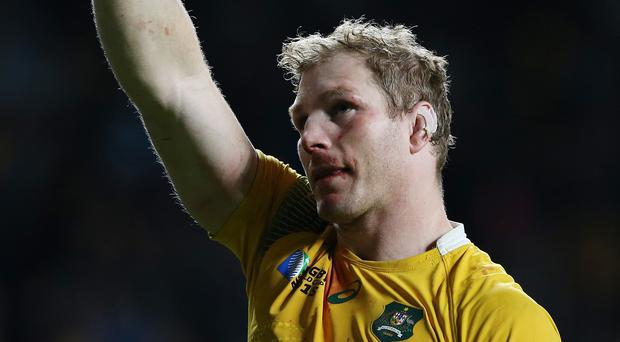 David Pocock was sporting bumps and bruises to his face after Sunday's semi-final