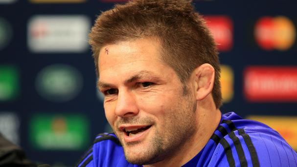 Richie McCaw, pictured, will retire after Saturday's World Cup final, even though he refuses to confirm the obvious