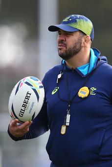Top coach: Michael Cheika has proved he has the Midas touch taking Australia to the World Cup final