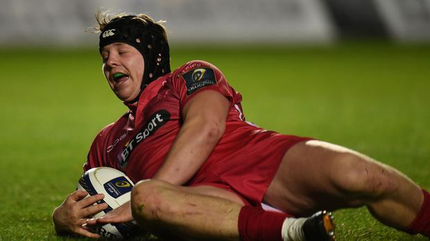 James Davies scored two tries for Scarlets