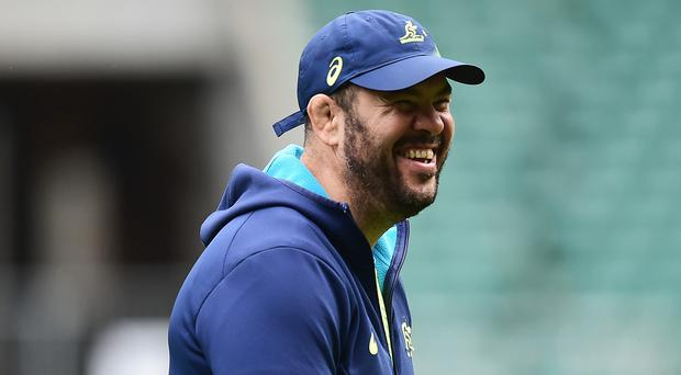 Some of Australia head coach Michael Cheika's tactics for the World Cup final were inadvertently revealed