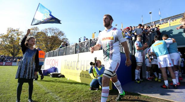 On World Cup final day, England captain Chris Robshaw was on Harlequins duty