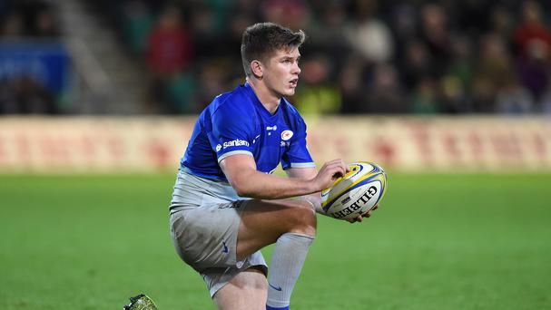 Saracens' Owen Farrell clashed with England team-mate Tom Wood