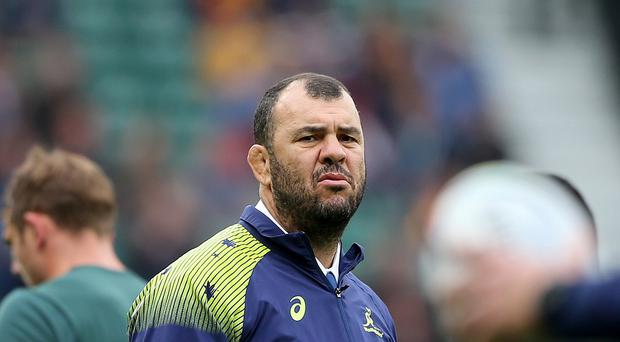 Michael Cheika, pictured, is reportedly a target for England, to replace head coach Stuart Lancaster