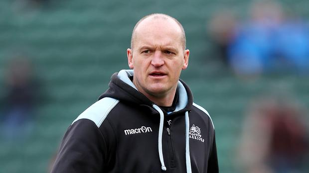 Head coach Gregor Townsend and his Glasgow Warriors team had travelled to France to play Racing 92