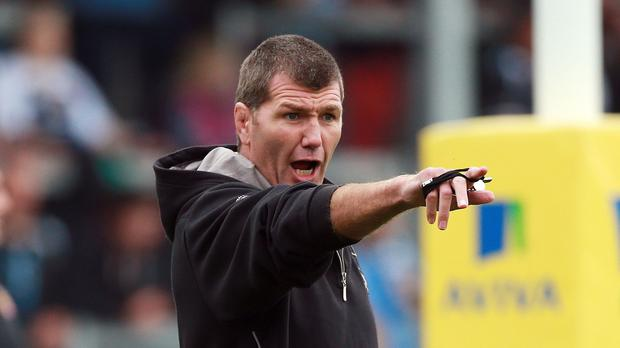 Exeter head coach Rob Baxter saw his team suffer a 25-13 European Champions Cup defeat against the Ospreys in Swansea