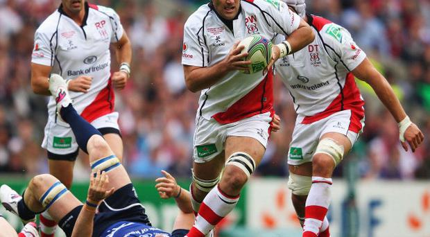 Old boy: Pedrie Wannenburg in the colours of Ulster before his switch to Oyonnax