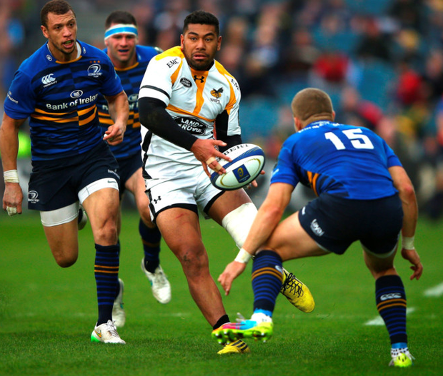 On the ball: Charles Piutau in action for Saracens against Leinster at the RDS