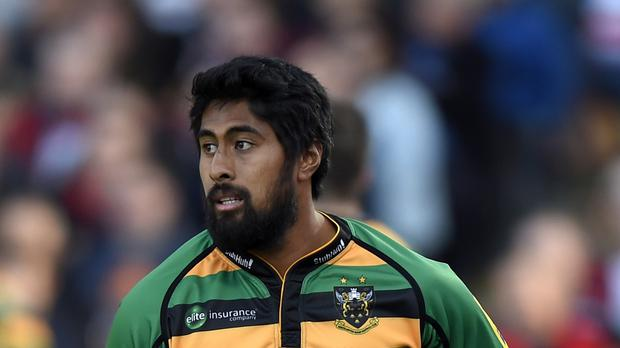 Ahsee Tuala poached a pair of tries for Northampton Saints