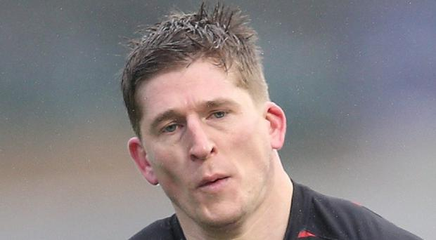 David Strettle dotted down twice against Ospreys
