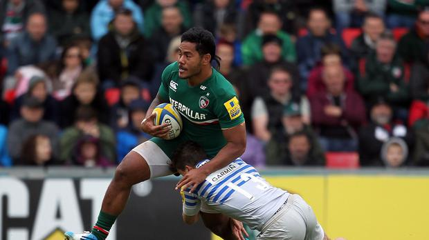 Wasps boss Dai Young has denied making attempts to sign Leicester's Manu Tuilagi, left