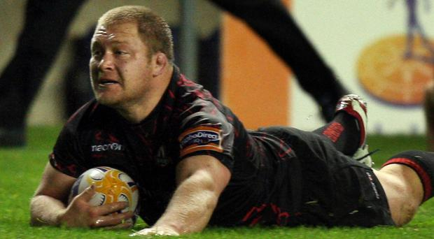 Willem Nel scored Edinburgh's first try