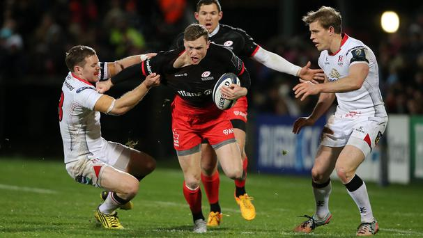 Saracens wing Chris Ashton (centre) wants to revive his England career