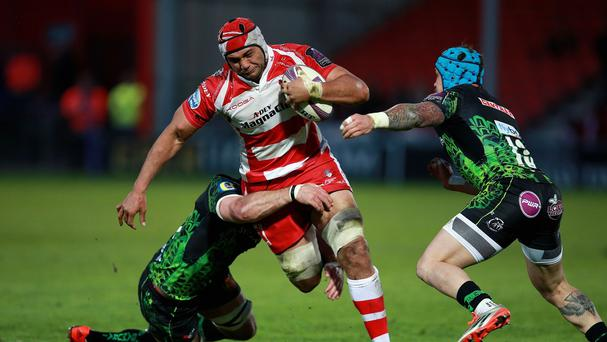 Sione Kalamafoni scored two tries as Gloucester claimed an Aviva Premiership win against Sale Sharks at Kingsholm