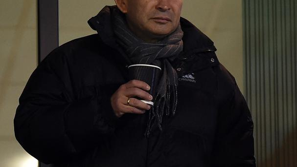 England head coach Eddie Jones was an interested onlooker at the Ricoh Arena.