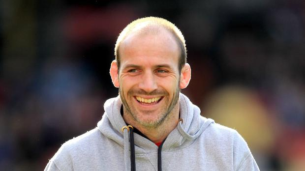 Paul Gustard, pictured, has completed terms on his deal to join England's coaching staff as defence specialist