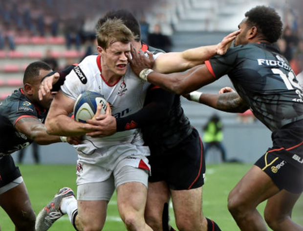 Fired up: Andrew Trimble
