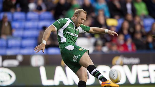 A penalty try for a scrum offence converted by Shane Geraghty, pictured, gave London Irish their first win and points of the Aviva Premiership season.