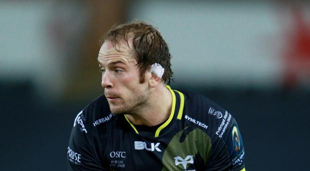 Ospreys Alun Wyn Jones impressed in the win over Scarlets.