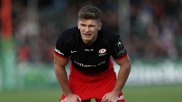 Owen Farrell scored a try as Saracens returned to the top of the Aviva Premiership.