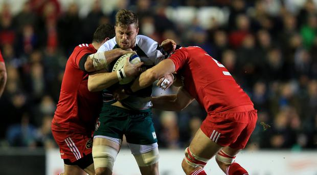 Leicester Tigers' Ed Slater could miss the next two months through injury
