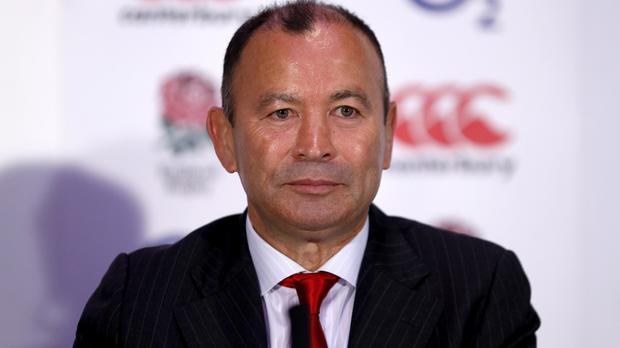 Alex King insists his meeting with Eddie Jones, pictured, was not a job interview