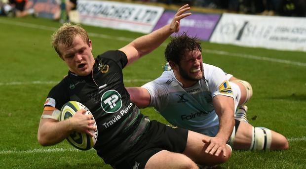 Leicester forward Dom Barrow (right) has received a one-week suspension